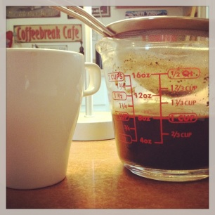 What a preservationist's day without coffee?