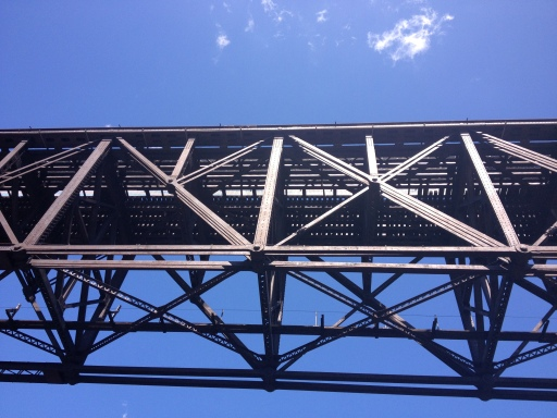Up close and personal with all of the bridges.