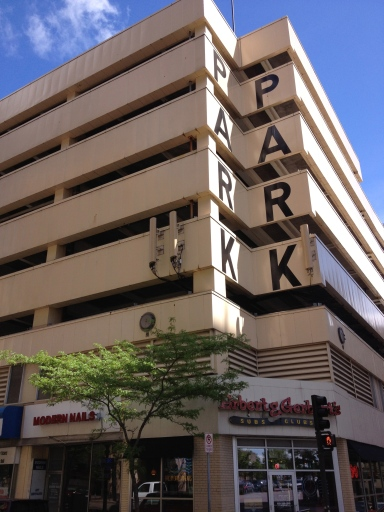 Parking garage in St. Paul. No mistaking its purpose!