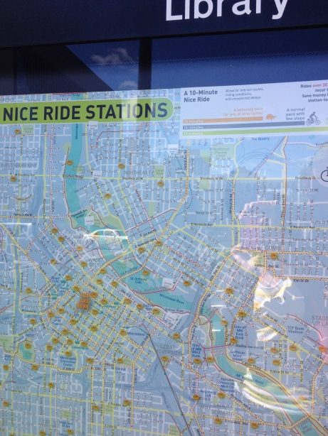 Each station has a map showing other stations so you can plan your trip.
