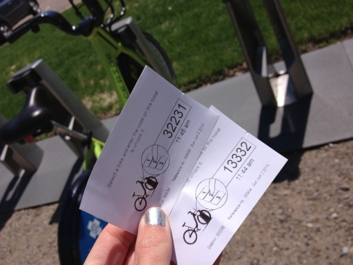 At each station you get a code, which you then type into the bike stand to unlock the bike. Every time you get a new bike, you get a new code.
