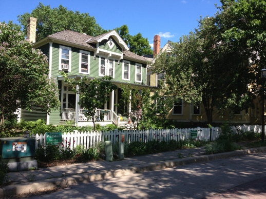 The houses are beautiful on Nicollet Island.