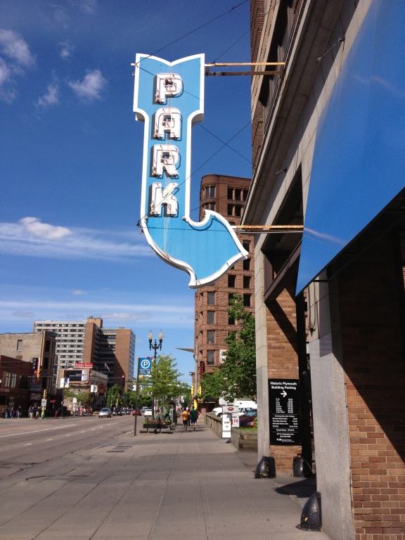 This neon sign will make sure you see it from the street.