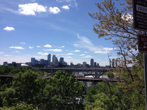 More views from the University of MN campus looking to the Minneapolis skyline.