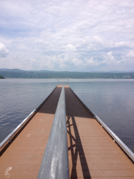 The new dock at Chimney Point, VT.