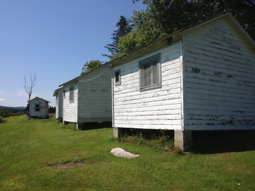 Rear of cabins.