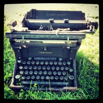 The typewriter that didn't sell at the garage sale.