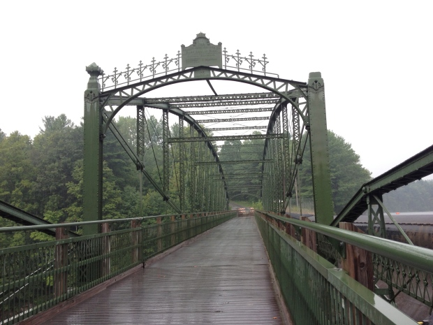 The lenticular truss bridge in Highgate Springs, VT.