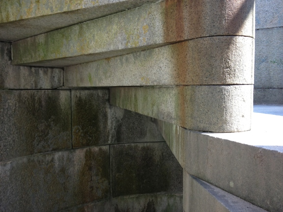 The beautiful granite staircase. Fort Popham was considered a marvel of its time.