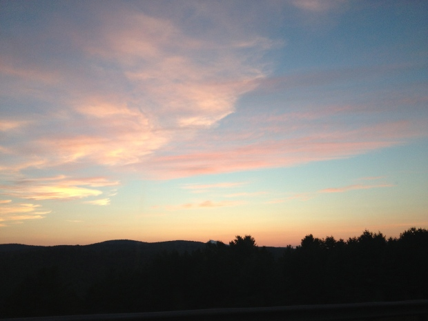 Summer sunset from the highway.