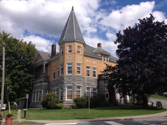 The Haskell Library in Derby Line, VT and Stanstead, Quebec. It was deliberately built half in each town.