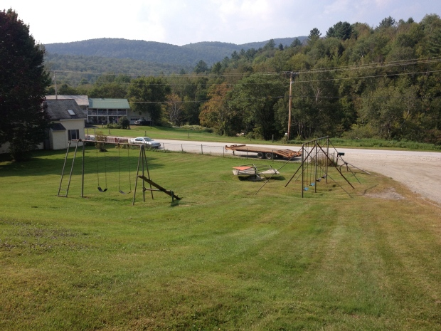 View of the playground from the school.