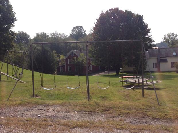 Playground swings.