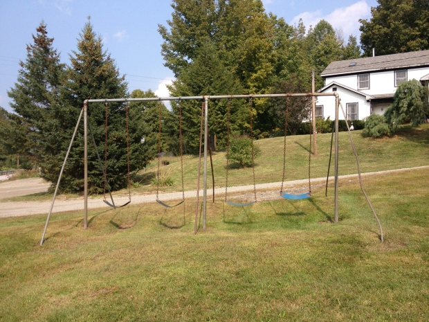 Another view of the swings.