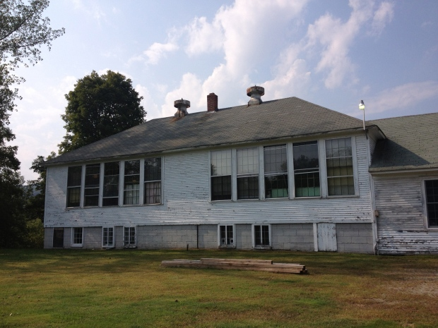 Rear of the Waterville school - the window banks are classic indications of schools. This building had two classrooms as indicated by the windows.