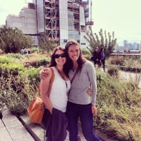 Laurel and Kate on the NYC High Line.