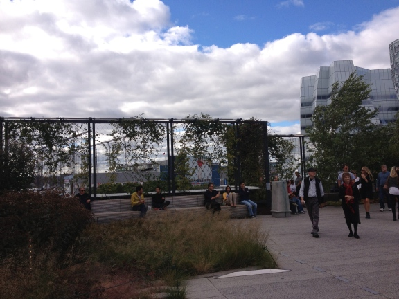 On The High Line.
