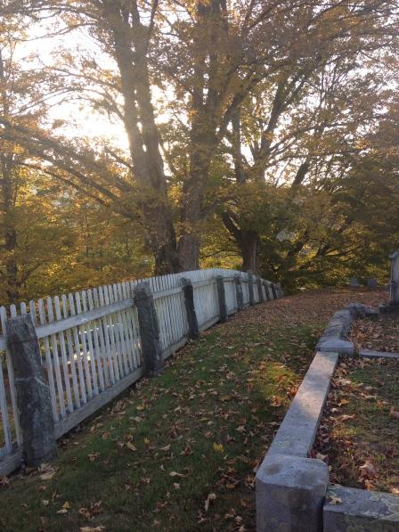Edge of the cemetery.