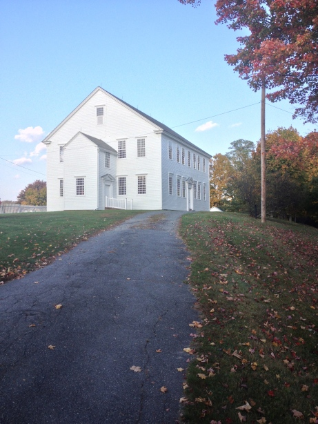 The drive up to the meeting house.