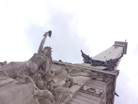 Up close with the Soldier Sailors Monument in Columbus Circle.