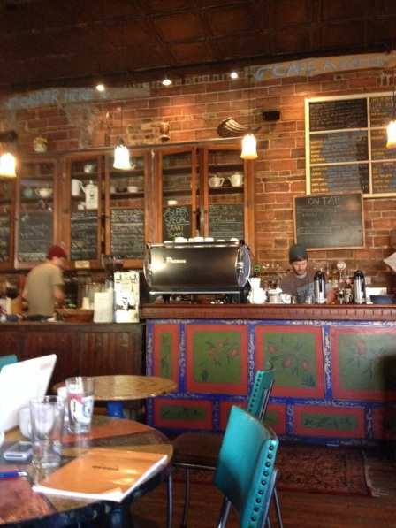 The interior of Sweetness 7 Cafe. It is absolutely delicious food and coffee!