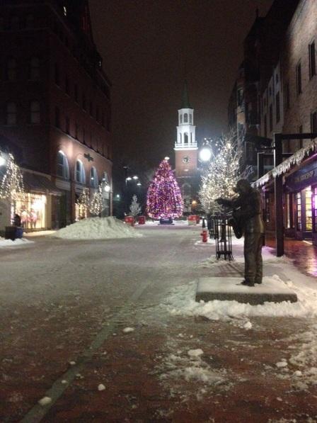 Christmas in Burlington.