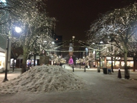 Eventually I made my way downtown for some Christmas shopping. Church Street is beautiful this time of year.