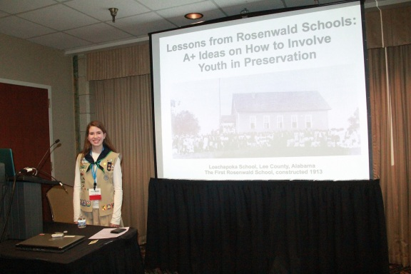 Julia presenting at the National Trust for Historic Preservation conference in  Indianapolis, 2013.