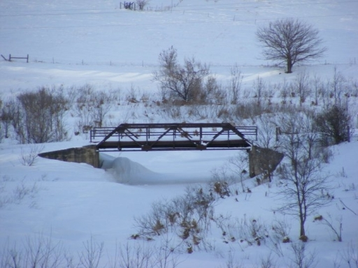 Lime Creek Bridge north of Fulda, Minnesota. Photo taken in December 2010. Courtesy of Jason Smith, The Bridgehunter's Chronicles. Click for source.