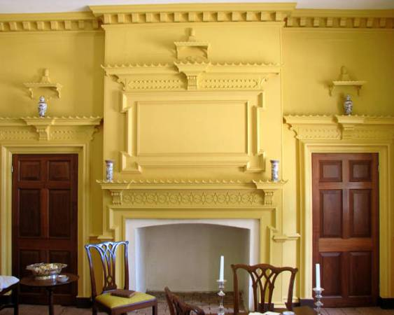The Chinese Room painted in Yellow Ochre at Gunston Hall. Click photo for source.