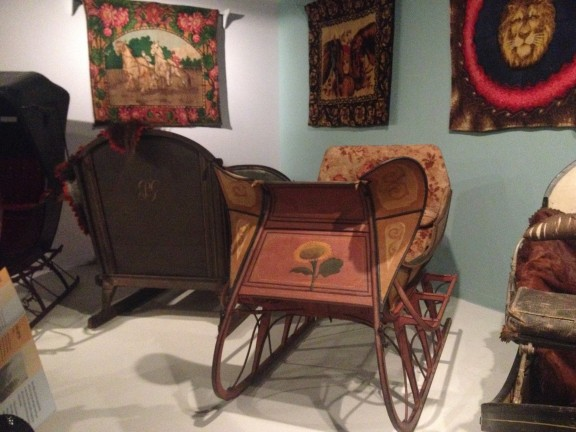 Historic sleighs including a few from Vermont.