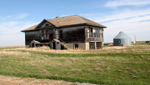 The Historic Rural Schoolhouses of Montana were collectively listed in the 2013 11 Most Endangered Places. Their threat was lack of funding. Photo by Carroll Van West, via the National Trust. Click for source.