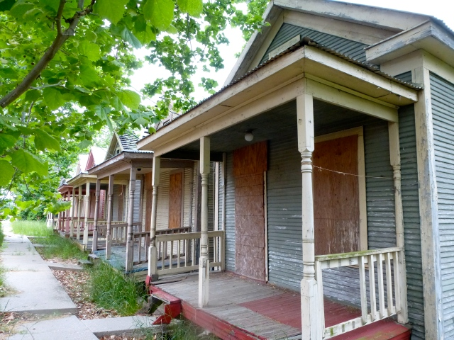 The Shotgun houses.