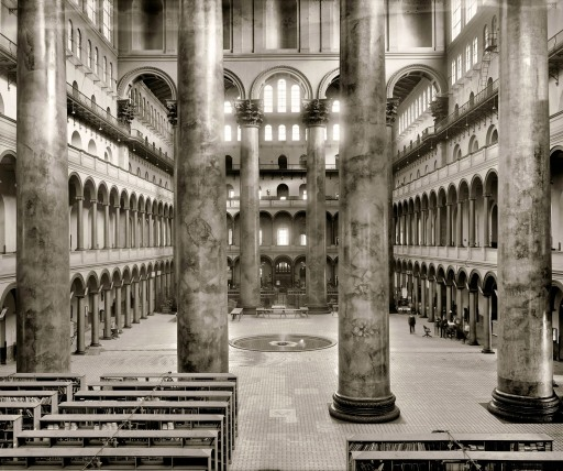 The National Building Museum was formerly the U.S. Pension Office. Click for source.