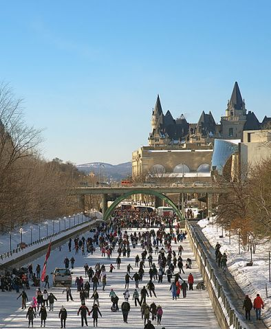 A winter destination for next year: skating on the Rideau Canal in Ottawa.