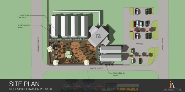 A site plan view of the Norla project. Image courtesy of Kelly Rich.