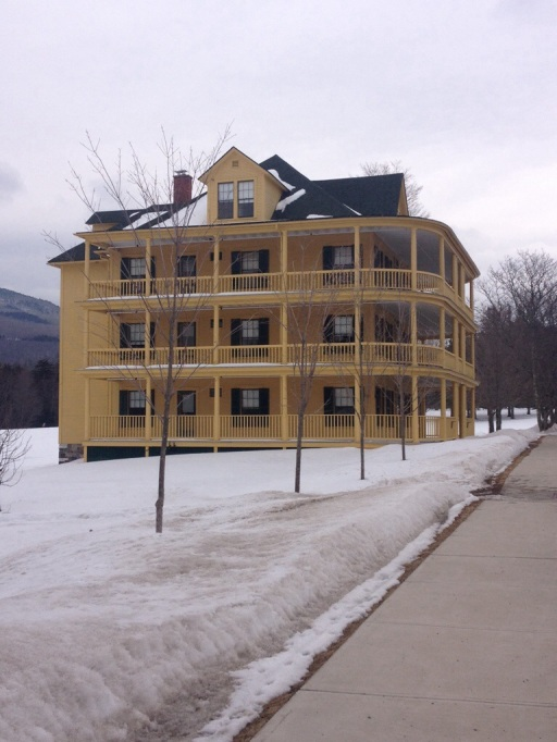 Steamboat type porches adorn this campus residence.