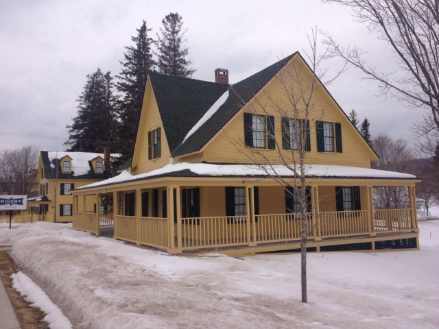 One of the many residential cottages on the campus.