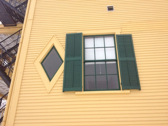 These diamond shaped windows are an interesting feature.