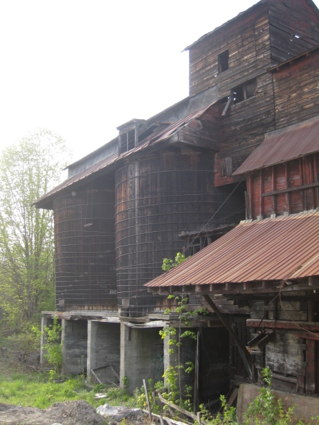 Two large wooden silos held the coal.