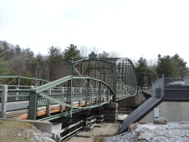 The lenticular truss bridge in Highgate Falls, VT.