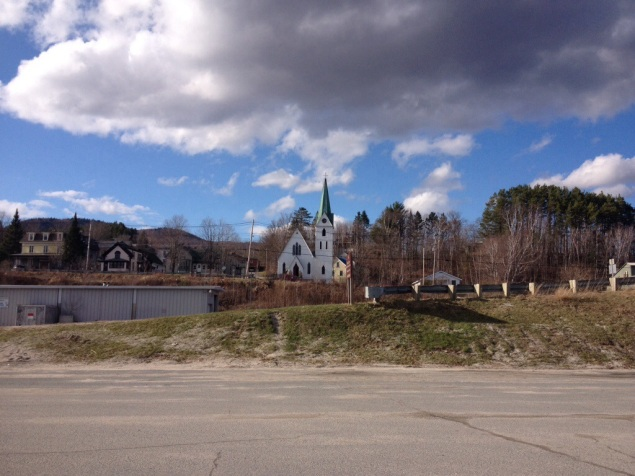 Christ Church overlooking Island Pond.