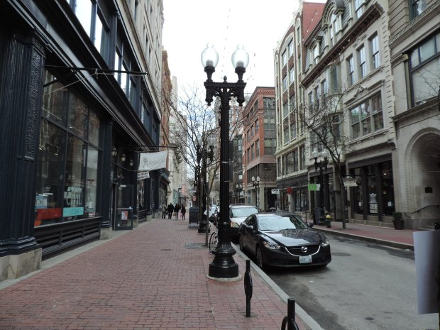 Another view on Westminster Street, a great place to stroll, shop, get coffee.