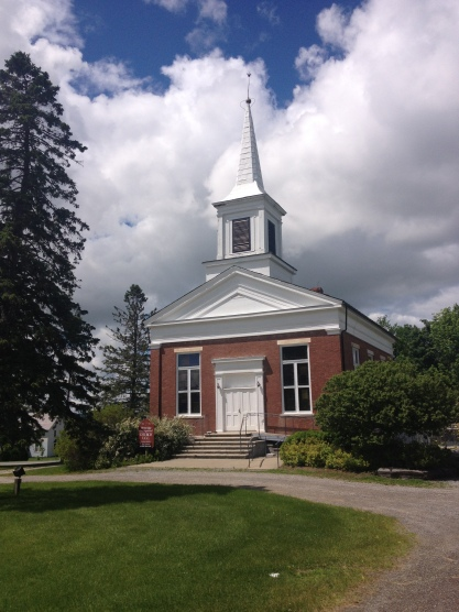 An 1848 Greek Revival style church in Weybridge, VT.