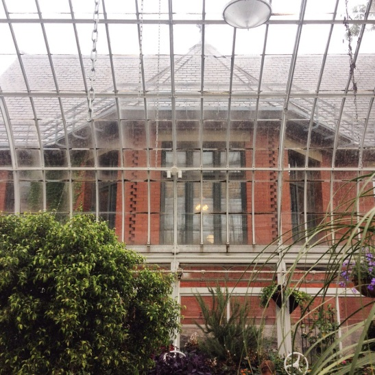 The conservatory is adjacent to the Westmount Public Library.