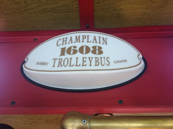 The owner found this trolley from a company in Quebec. Keeping it local (basically).