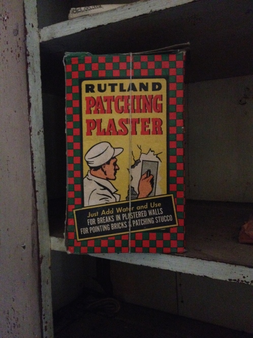 But it might need some plaster. This Rutland Patching Plaster is from nearby Rutland, VT!