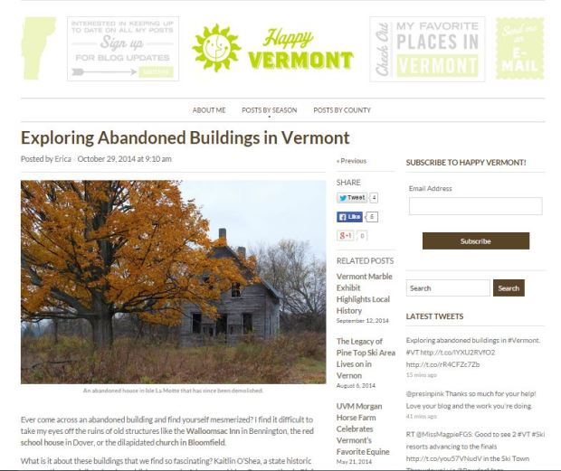 Click to read the article by Erica Houskeeper at Happy Vermont.