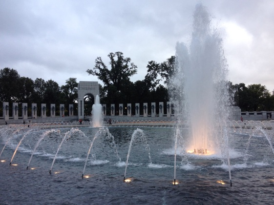 The World War II Memorial is stunning.