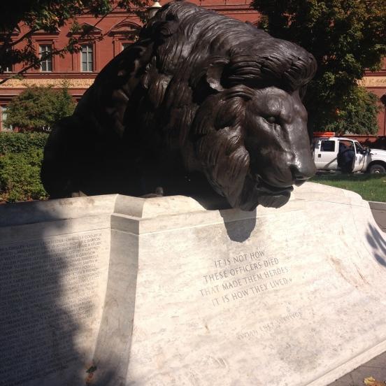 Lions at Judiciary Square.